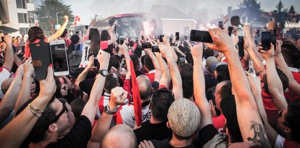 Aankomst PSV na behalen landstitel 2016
