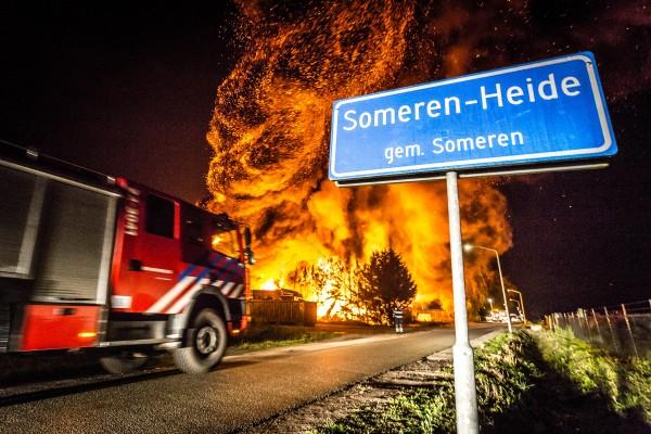 Grote brand Someren