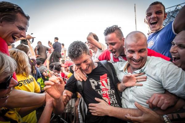 Aankomst PSV-spelers na behalen landstitel 2016